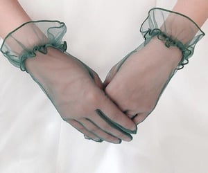 fashion, gloves, and green gloves image