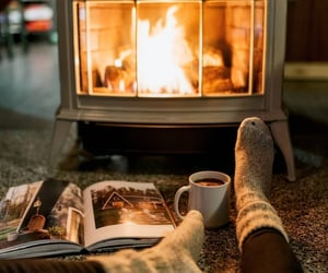 autumn, cozy, and fire image