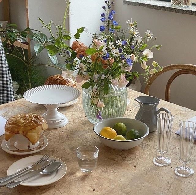 cottage, flowers, and food image