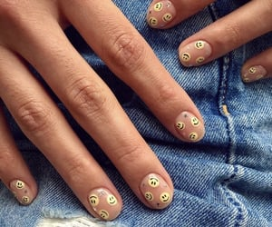 nails, cute nails, and smiley faces image