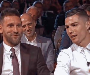 cristiano ronaldo, football, and lionel messi image