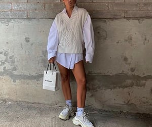 street style, balenciaga sneakers, and fashion style mode image