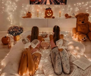 autumn, girls, and Halloween image