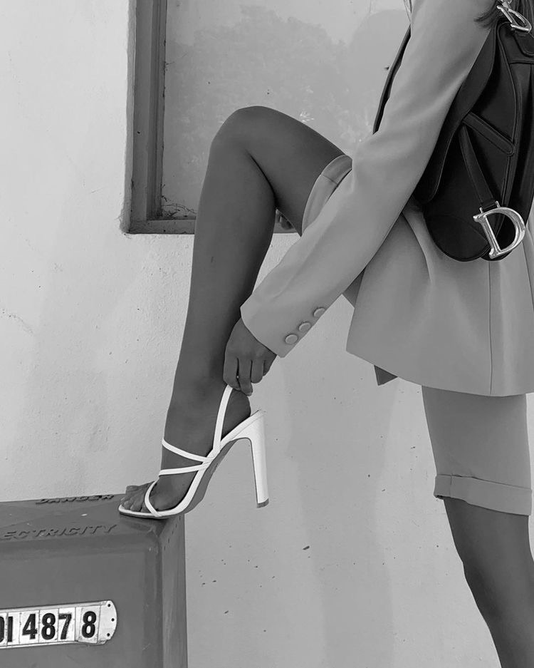 fashion, black and white, and shoes image