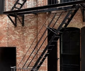 aesthetic, building, and fire escape image