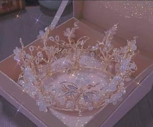 bling, crown, and pink image