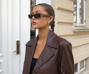 black top, brown leather jacket, and ig inspo image