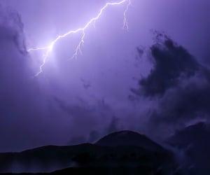 lightening, purple, and sky image