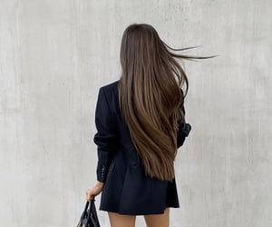 bag, beautiful, and brown hair image