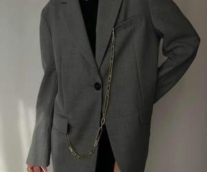 fashion, grey blazer, and look image
