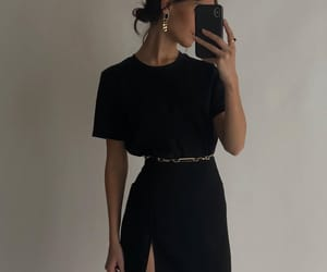 black dress, blogger, and outfit image