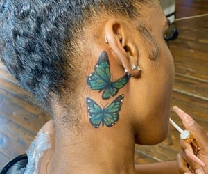 aesthetic, Tattoos, and butterfly tattoo image