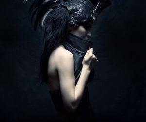 dark fantasy, mystical, and dark fashion image