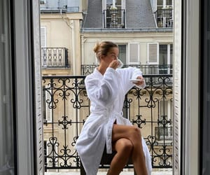 dressing gown, girl, and paris france image