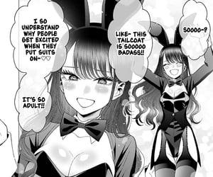black and white, kawaii, and bunny girl image