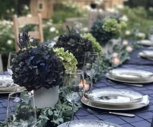 inspiration, outdoor dining, and fall party image