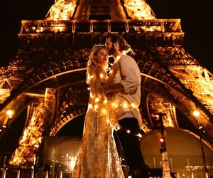 couples, happy, and lights image