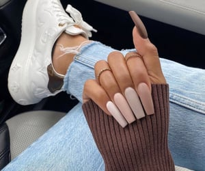 nails, outfit, and style image