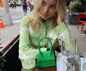 elsa hosk, fashion, and green image