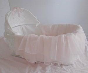 crib, pink, and baby image