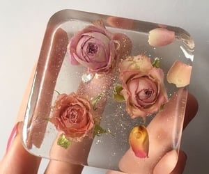 flowers, roses, and glitter image