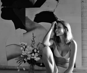 black and white, josephine skriver, and model image