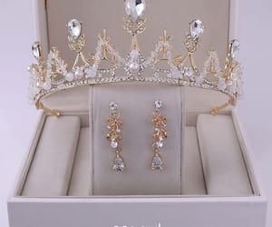 bridal jewelry, earrings, and tiara image