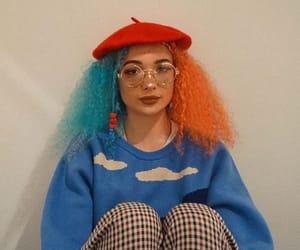 blue hair, alternative style, and hair inspo image