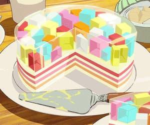 anime, cake, and manga image