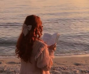 ginger, reading, and red hair image