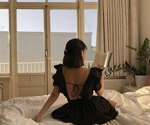 girl, book, and fashion image