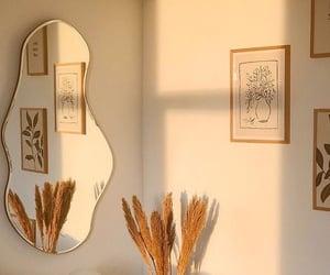 interior, decor, and mirror image