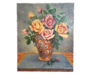 etsy, flower painting, and rose art image