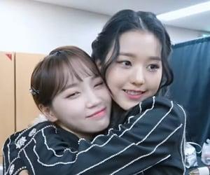 lq, kim chaewon, and jang wonyoung image