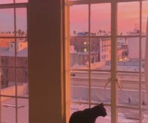 aesthetic, balcony, and black image