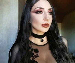 choker, goth, and Hot image