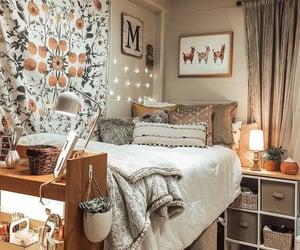 bedroom, cozy, and dorm image