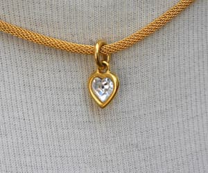 crystal heart, etsy, and heart pendant image
