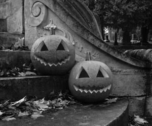 fall, ghost, and pumpkin image