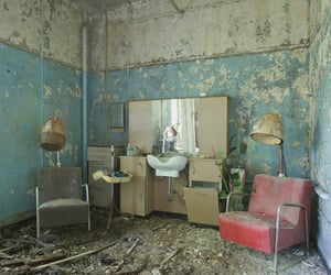 abandoned, chair, and decay image