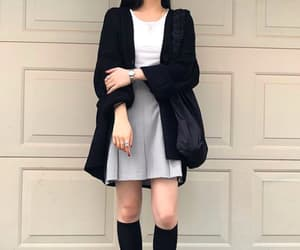 black cardigan, casual, and comfort image