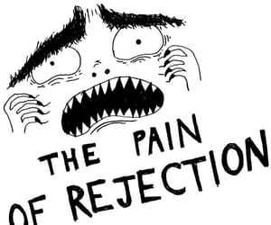 fear, rejection, and illustration image