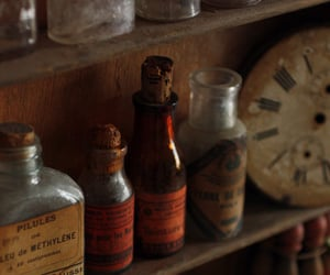 bottles, potions, and vintage image