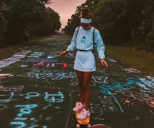 chalk, clothes, and outfit image