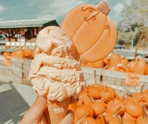 autumn, ice cream, and pumpkin image