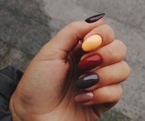 nails, red, and yellow image