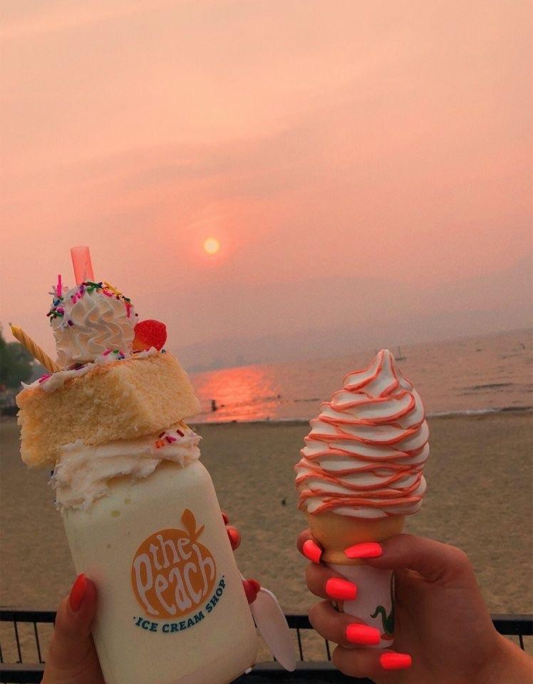 food, beach, and cake image