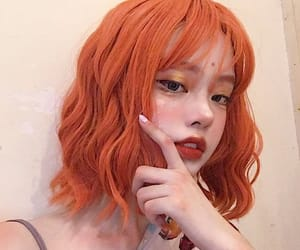 aesthetic, orange hair, and dyed hair image