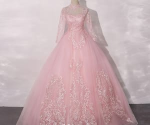long dress, tulle, and vintage dress image