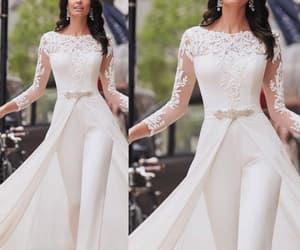 pant suit for women, pant suit for weddings, and cheap bridal jumpsuit image